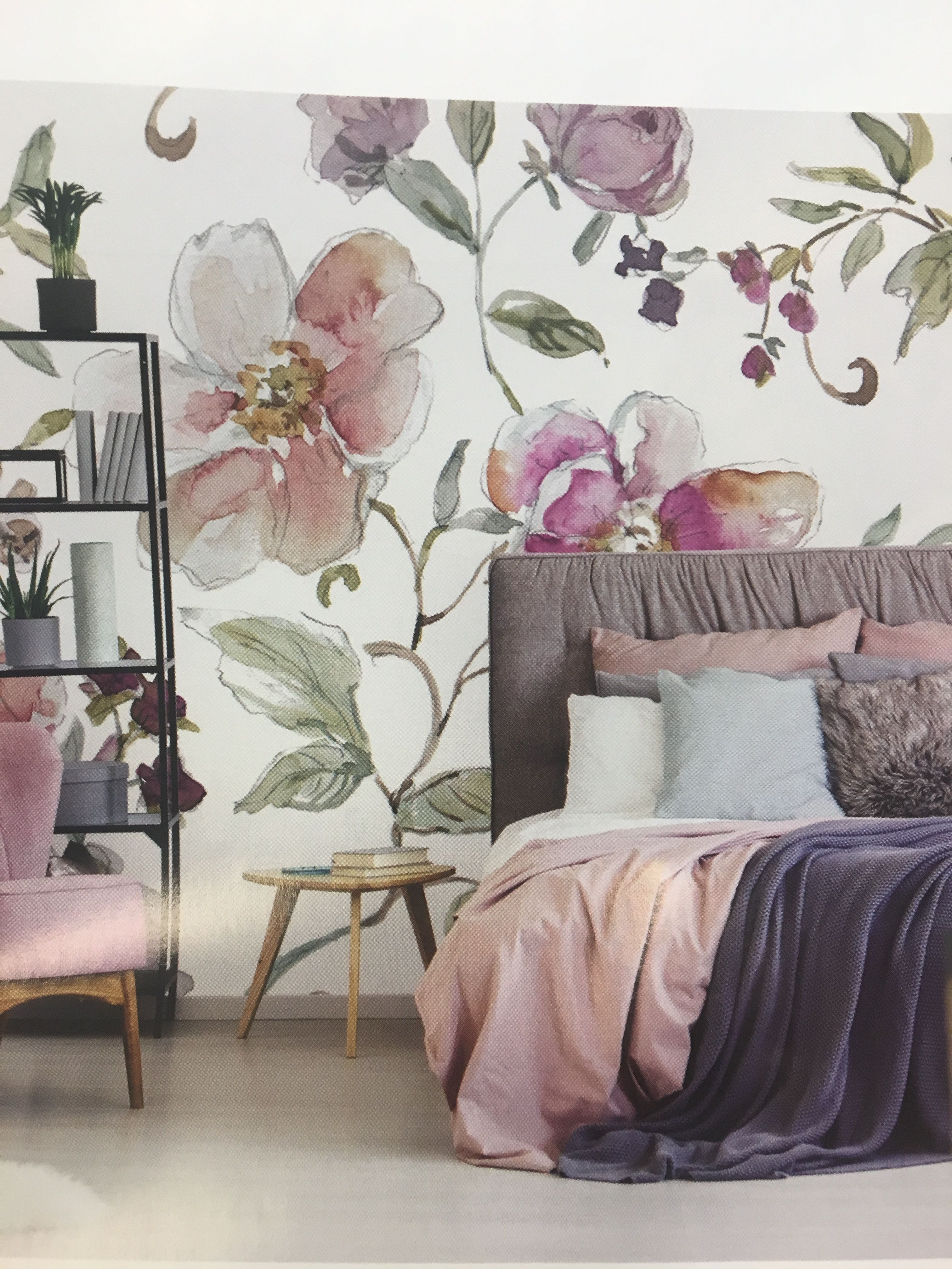 Pin By Cin Sanchez On Tats Feature Wall Bedroom Wallpaper Bedroom Wallpaper Bedroom Feature Wall