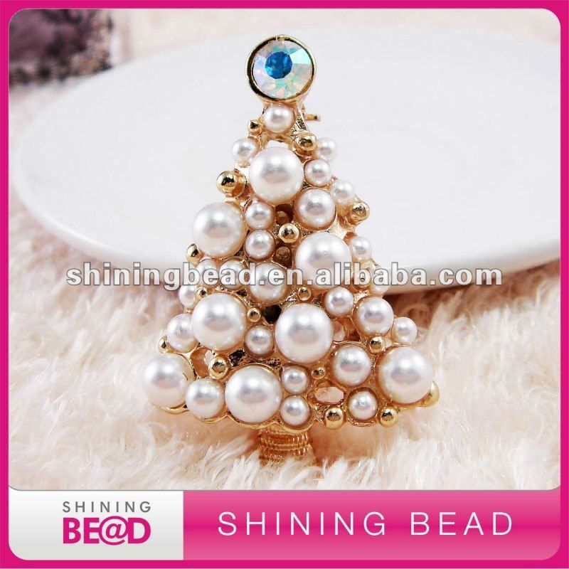 el árbol de navidad broche de perlas-Broches-Identificación del producto:644466556-spanish.alibaba.com