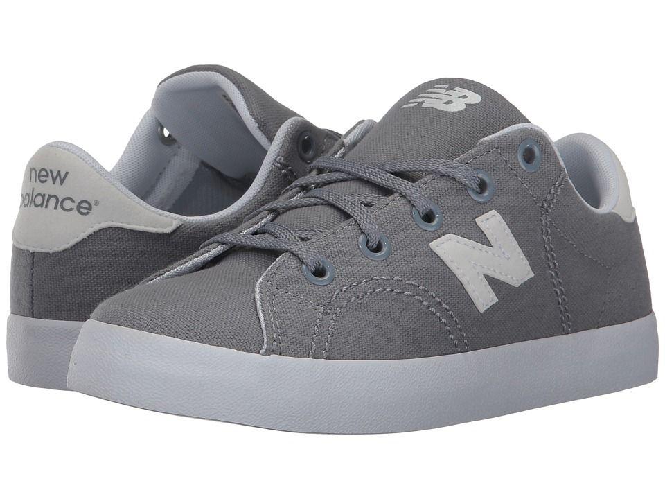 732444de4107a New Balance Kids Pro Court (Little Kid/Big Kid) Boys Shoes Grey/White