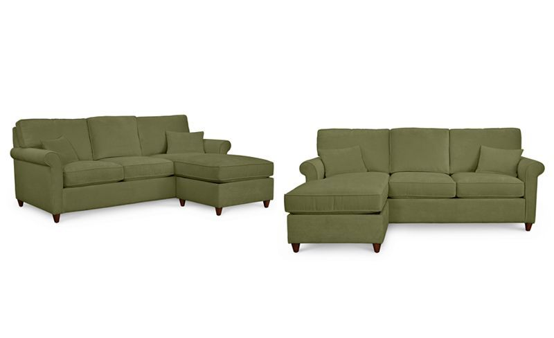 the latest 7d7c1 54b4c Lidia 82 Fabric 2-Pc. Chaise Sectional Queen Sleeper Sofa ...