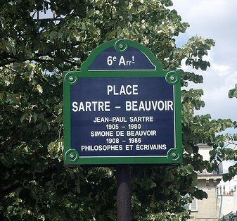 Place Jean Paul Sartre - Simone de Beauvoir - Paris #jeanpaulsartre