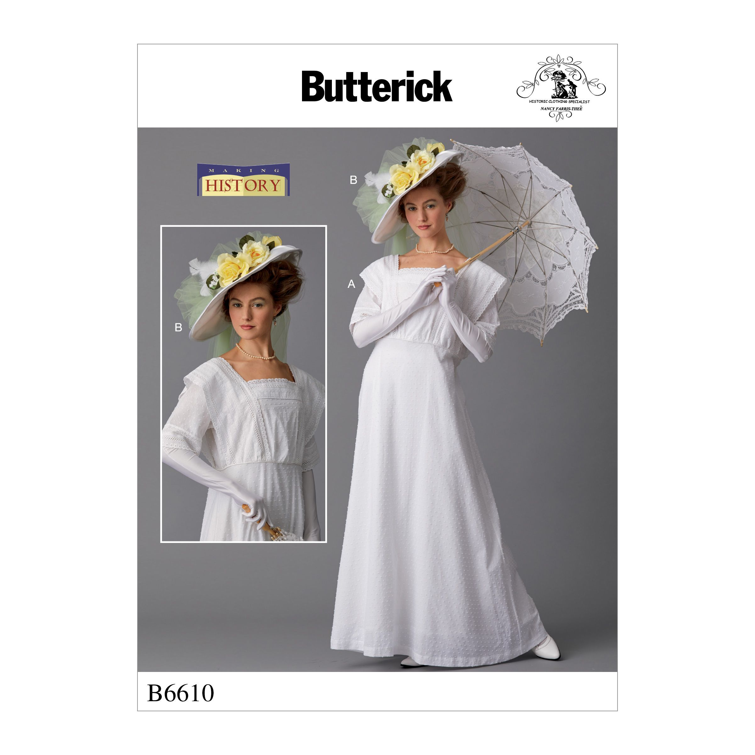 Butterick 6610 Misses Costume And Hat Butterick Sewing Pattern Loose Fitting Dresses Costume Patterns [ 2400 x 2400 Pixel ]