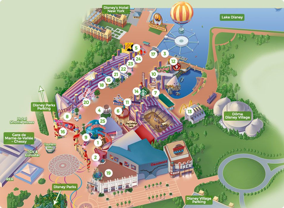 Map of Disney Village • DLP Guide - Disneyland Paris guides, photos Downtown Disney Hotel Map on