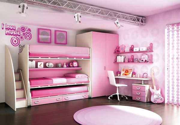 Habitaci n rosa hermanas decoraci n chicas pinterest - Decoracion habitacion rosa ...