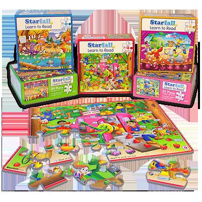 ShortVowel Puzzle Set (5 sturdy puzzles a,e,i,o,u