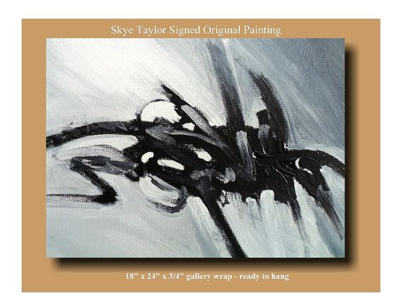 Abstract Art - 18 x 24 - No Boundaries - Contemporary - Modern - Original Canvas - black and white -Art Painting