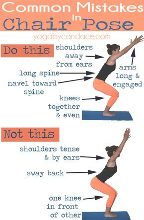Common Mistakes in Chair Pose — YOGABYCANDACE