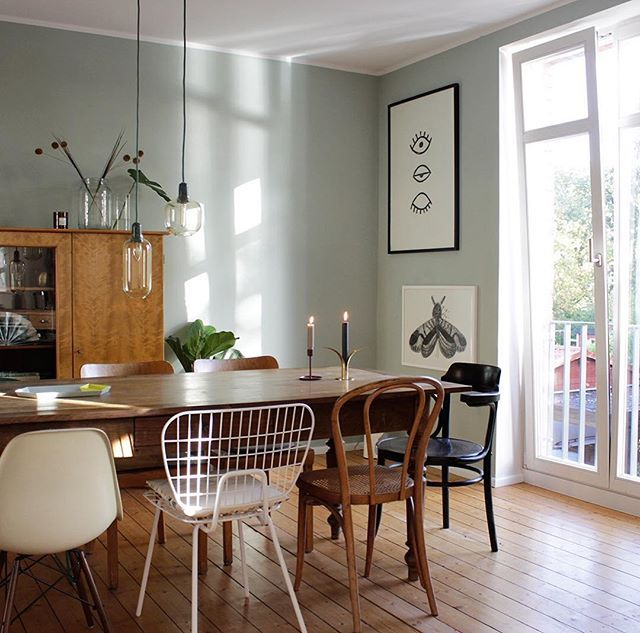 Wir lieben die Wandfarbe und den Stilmix in Mitglied - wandfarben fr esszimmer