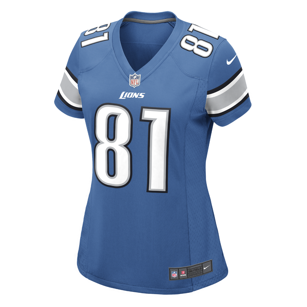 Nike NFL Detroit Lions (Calvin Johnson) Women s Football Home Game Jersey  Size Medium (Blue) 2b3b54600