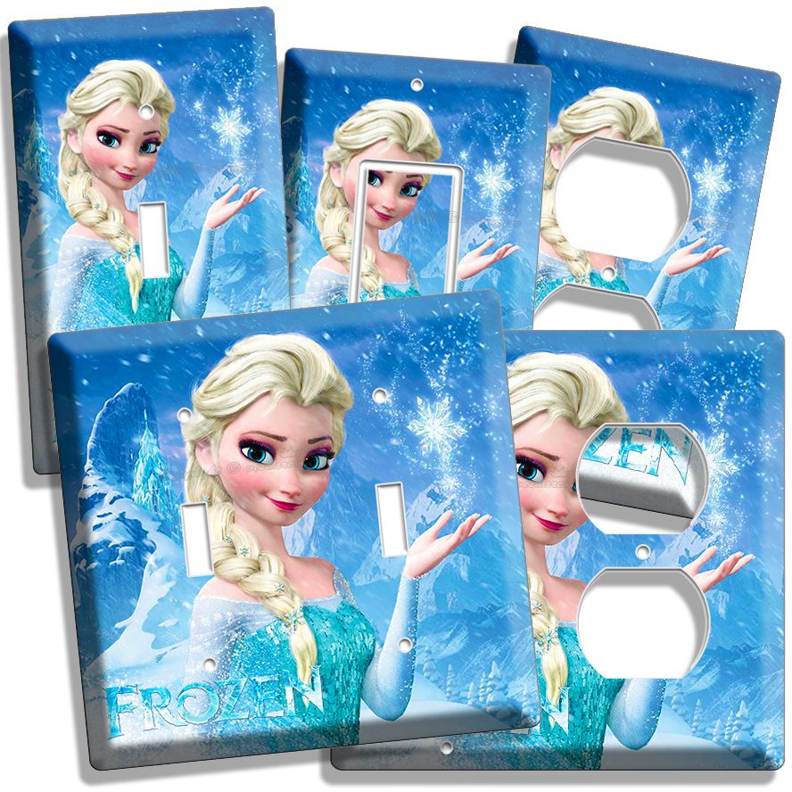 Disney Frozen Elsa Light Switch Outlet Plates Living Room