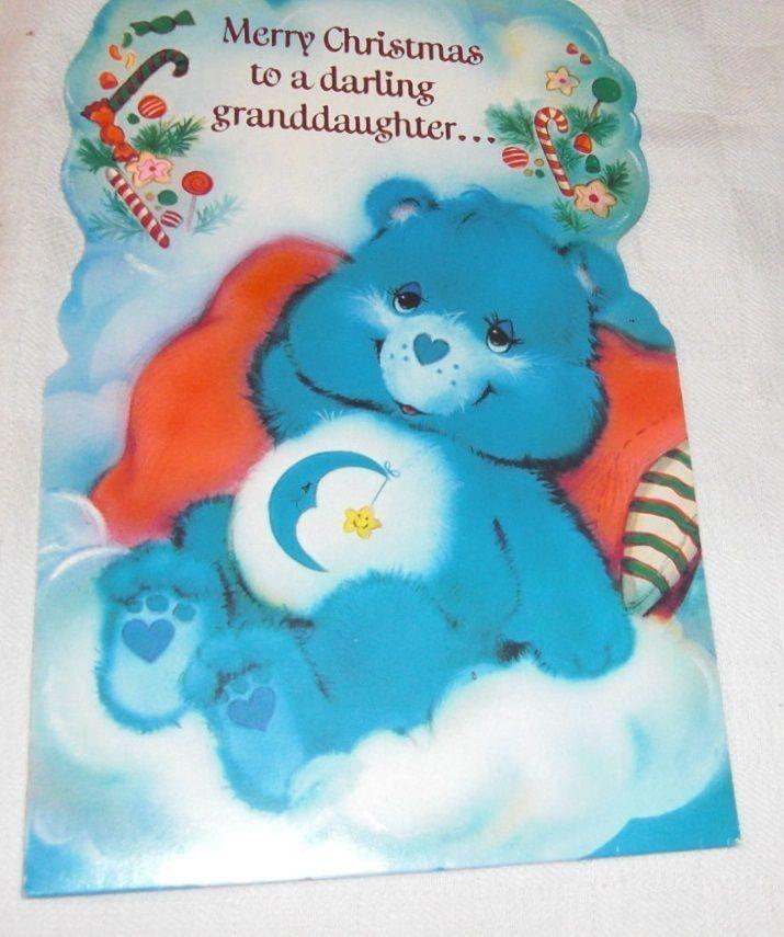 Care Bears 1983 Merry Christmas Sugarplums Dancing special GRANDDDAUGHTER Card