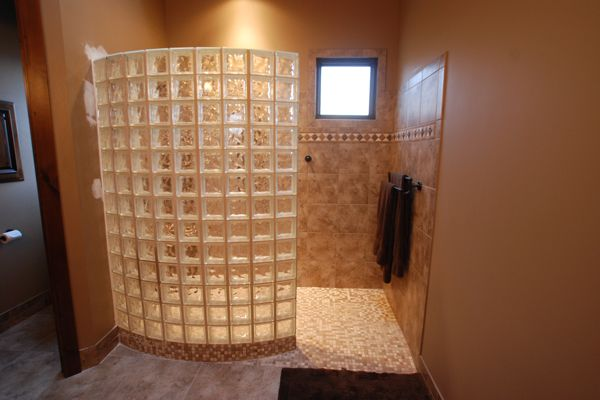 Ready For Tile Custom Shower Pan For Glass Block Enclosure. ADA Compliant  Wheelchair Accessible