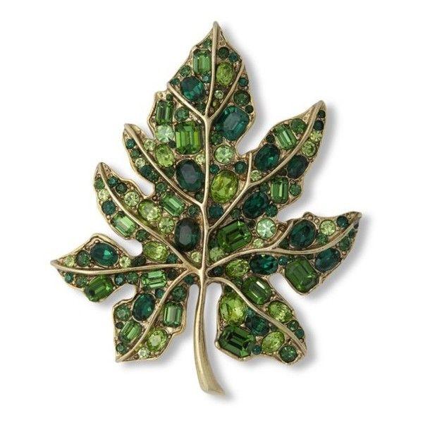 Kenneth Jay Lane Multi Green Flower Pin Multi green ydPA7C