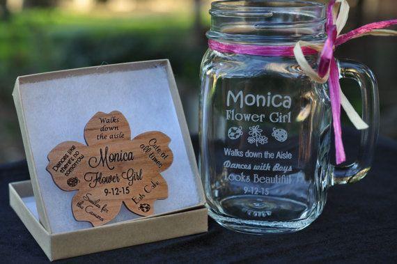 Flower Girl Gift Set, Junior Bridesmaid Gift, Personalized Flower Girl  Brooch, Flower Girl