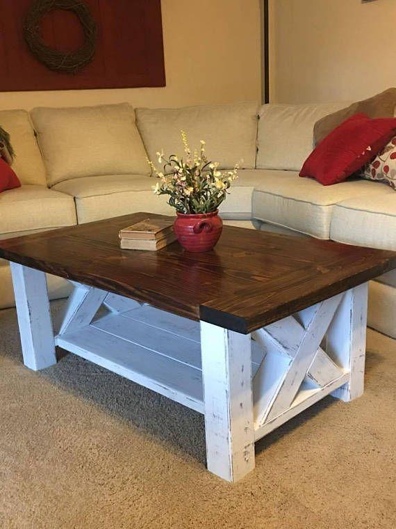 Chunky Farmhouse Coffee Table Coffee Table Plans Coffee Table Diy Farmhouse Coffee Table