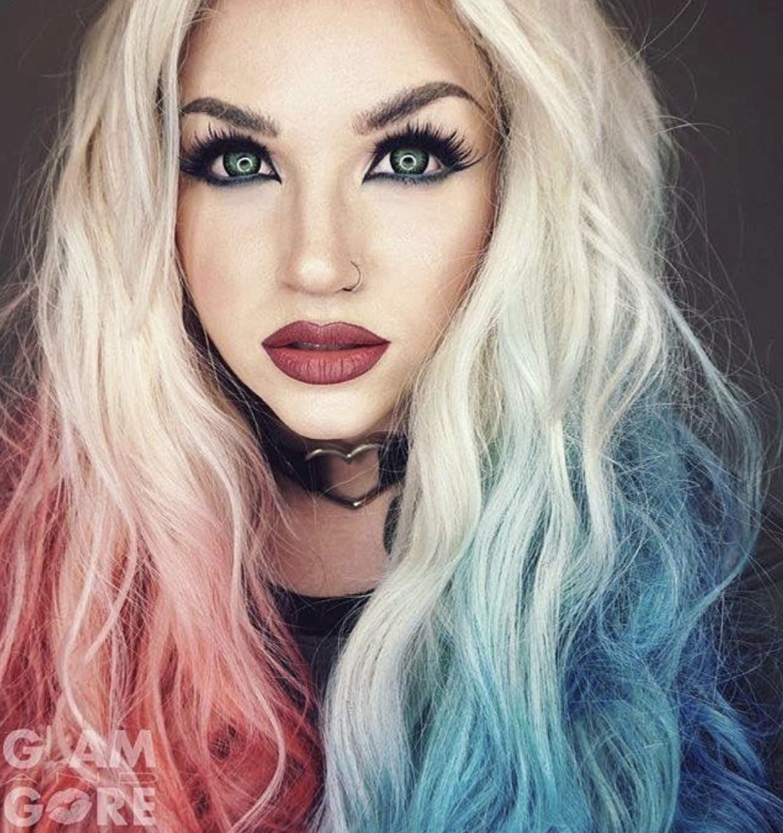 Pin By Juls Makarenko On Hair Colors Styles In 2020 Mykie Glam And Gore Hair Chalk Wigs