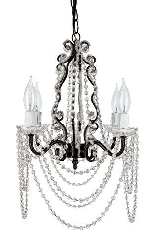 Tiffany collection all crystal glass beaded mini swag chandelier tiffany collection all crystal glass beaded mini swag chandelier lighting with 4 lights w145 x h14 black httpamazondpb00u5vibj6ref aloadofball Choice Image