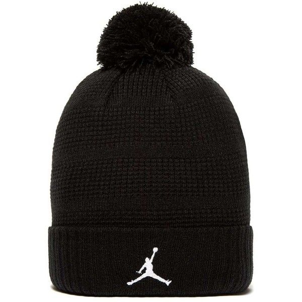 7942ee7326f Jordan Pom Pom Beanie ( 32) ❤ liked on Polyvore featuring men s fashion