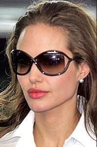 74972b9df0e4 Who made Angelina Jolie's sunglasses? Sunglasses – Tom Ford ...