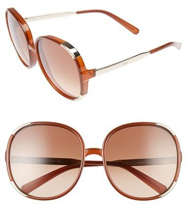 9348e5468c98 Women s Chloe Myrte 61Mm Sunglasses - Caramel