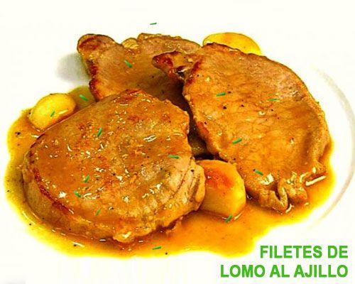 Filetes De Lomo Al Ajillo Lomo En Salsa Filete De Cerdo Recetas De Comida
