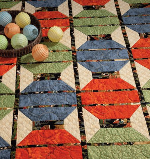 Chinese Lantern Quilt | Martingale - More Take 5 Quilts (Print ... : japanese lantern quilt pattern - Adamdwight.com