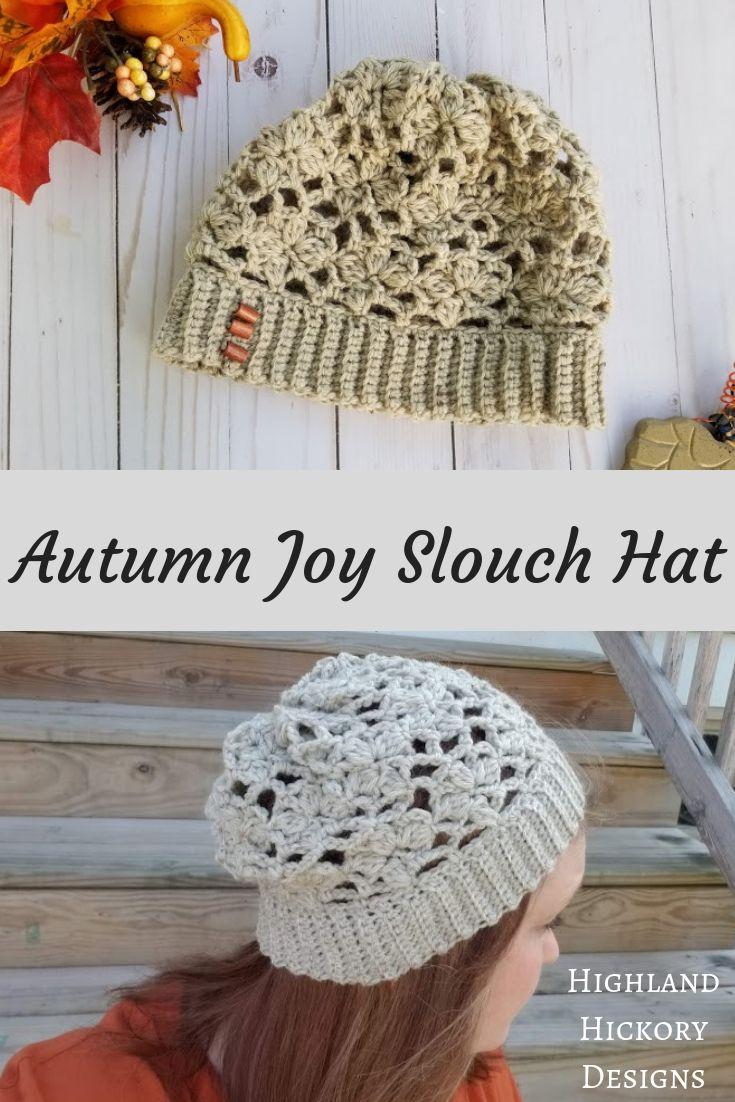 Autumn Joy Slouch Hat - Highland Hickory Designs - Free Crochet ...