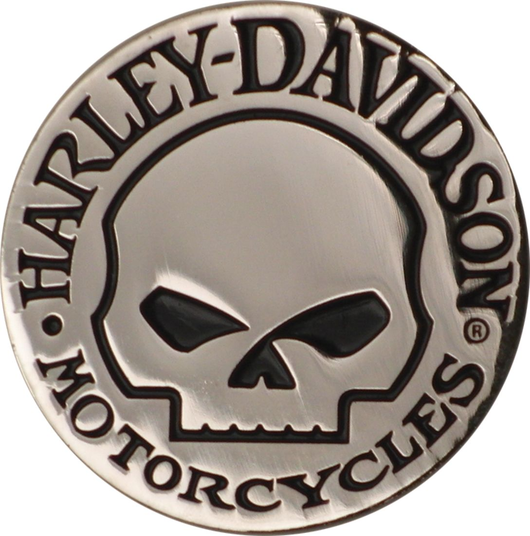 dm1029 harley davidson hubcap willie g skull magnet. Black Bedroom Furniture Sets. Home Design Ideas