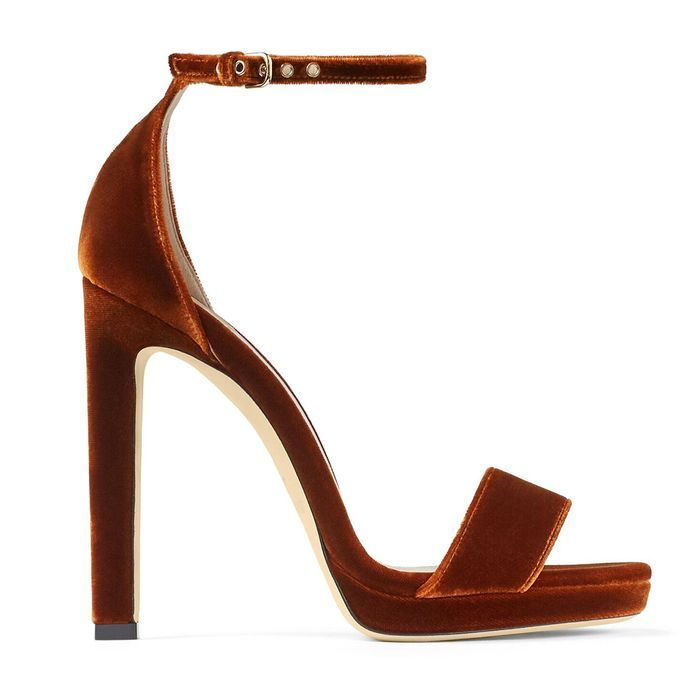 7 Easy Wedding Guest Outfit Ideas That Will Work Every Time In 2020 Velvet Sandals Jimmy Choo Heels Stiletto Heels