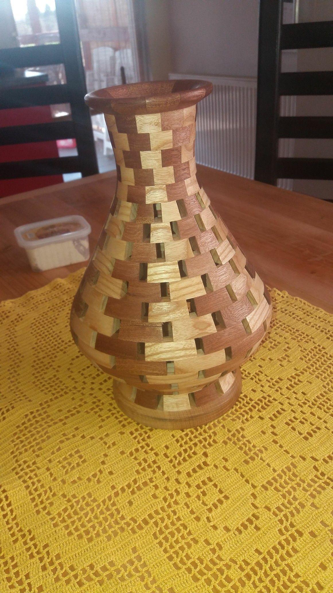 Segmented vase madeira 9 torneados artesanato em for Mobilia opening hours