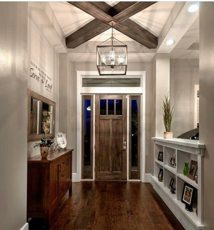 Like The Brick Beams Dark Floors Decor Chandelier Is: I Like The Half-wall With The Cube Spaces To Separate The