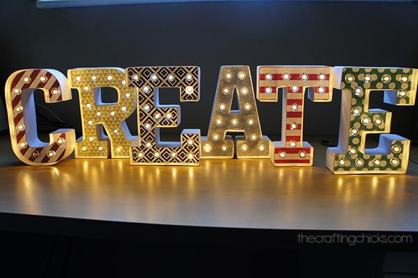 Create Marquee Letters Diy Marquee Letters Marquee Letters Crafts