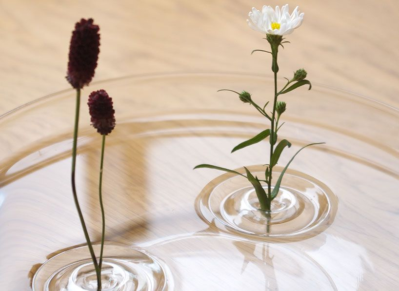 floating ripple vase by oodesign at designboom shop