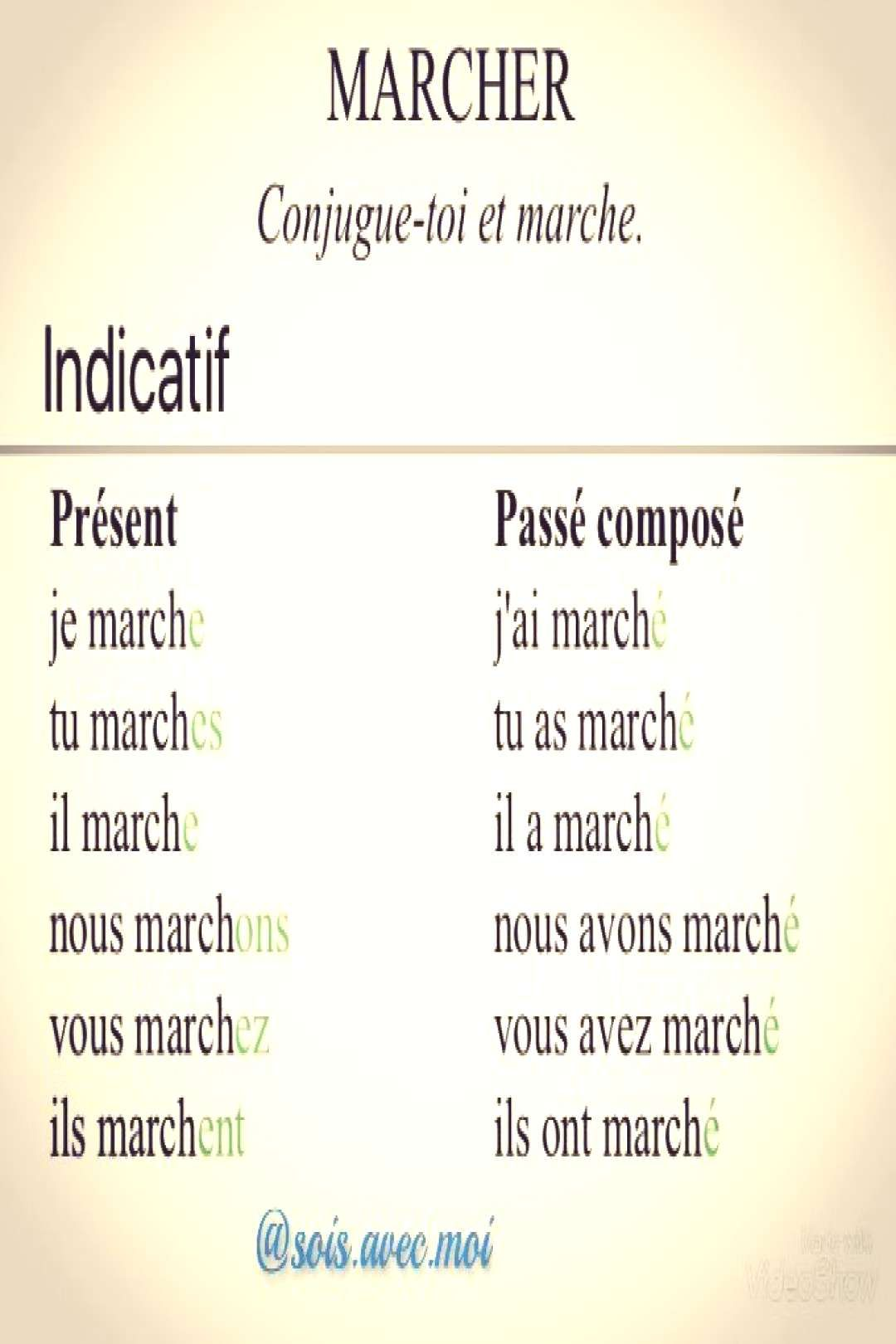 Teachingfrench Conjugaison Marcher Verbe Du Mo Conjugaison Du Verbe Marcher راه رفتن قدم زدن Moyou Can Find Teaching French And More On Our Website Con