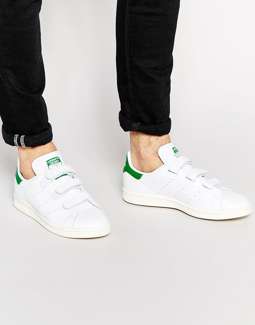 Image 1 of adidas Originals Stan Smith Velcro Sneakers  499fead59