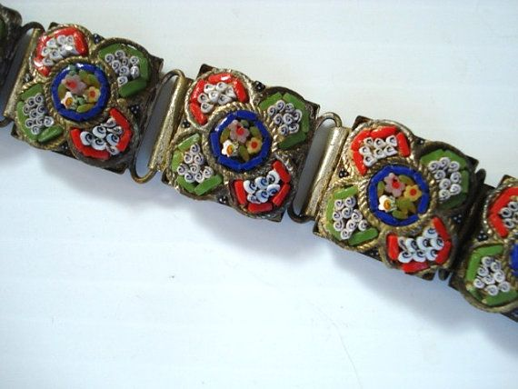 Vintage Mosaic Bracelet Made in Italy
