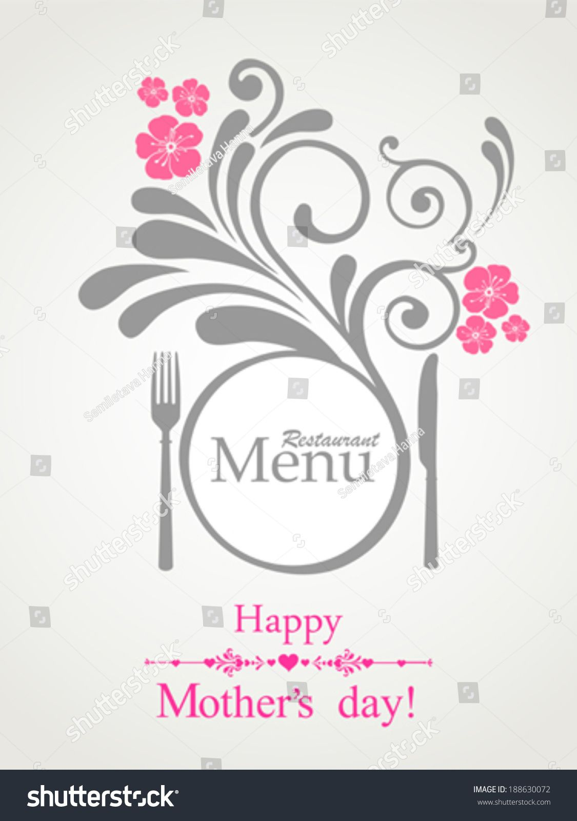 happy mother's day! restaurant menu card design. menu template on