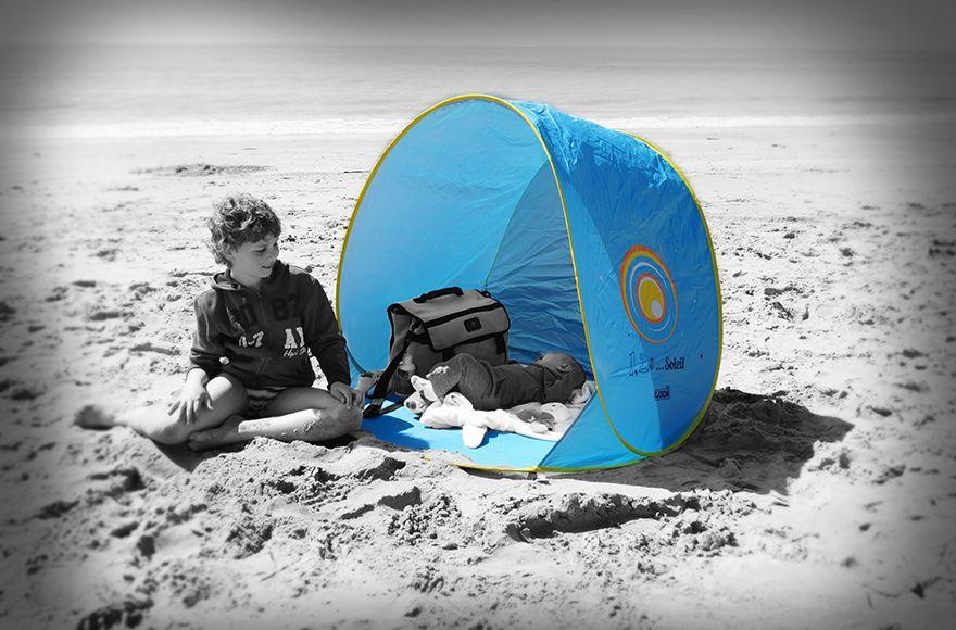La Tente Sun Set 1 2 3 Soleil Saura Proteger Du Le Vent Et Du Soleil La Famille Et Ses Affaires Vacances Plage Plein Air Tentes