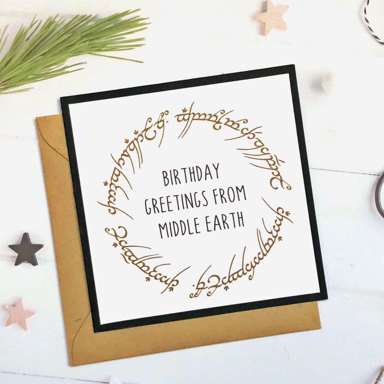 Lord Of The Rings Birthday Card Lotr Birthday Card Birthday Card Lord Lotr Birthday Cards For Boyfriend Birthday Card Messages Birthday Cards