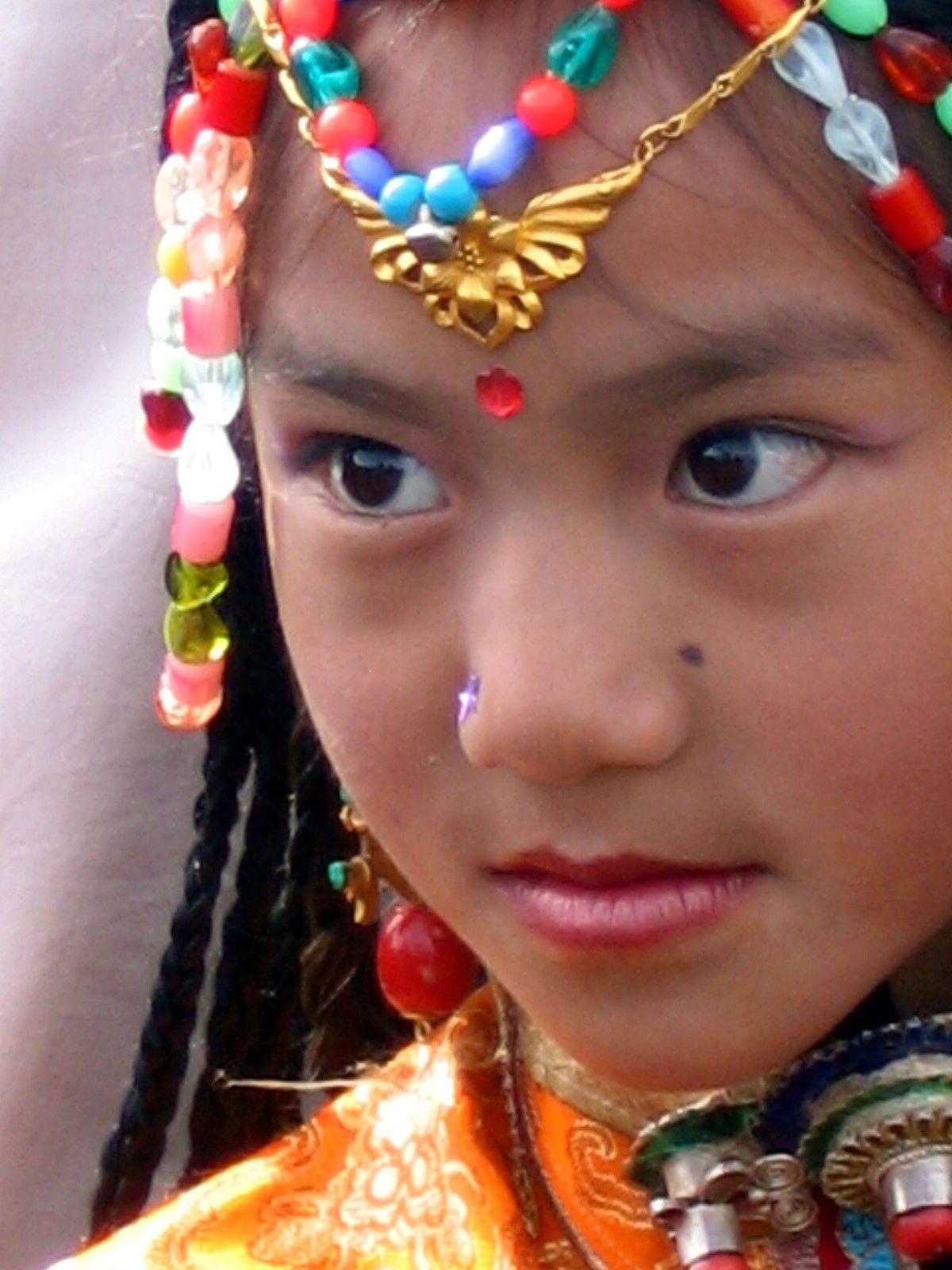 Child at Losar Festival Tibet.