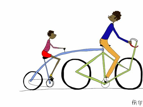 Bike/Love — Britt Appleton Appleton, Illustration, Bike