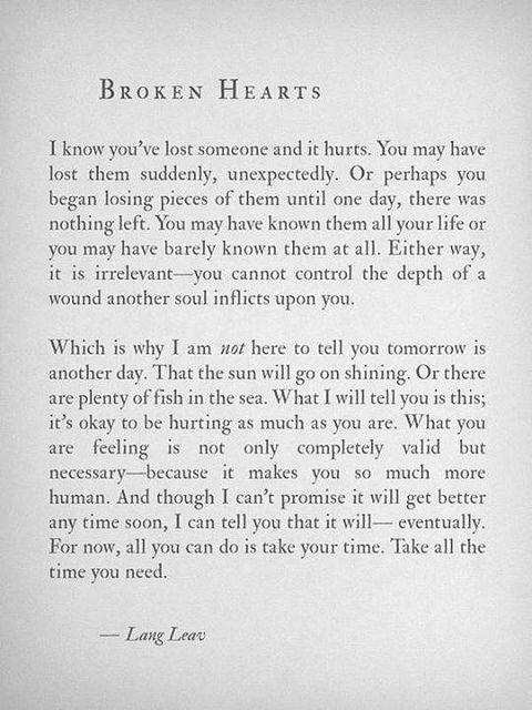 Broken hearts..