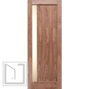Modern Slimlite Shaker Walnut Right Interior Single Door W Matte Glass Sh 15 Shaker Style Interior Doors Doors Interior Shaker Style