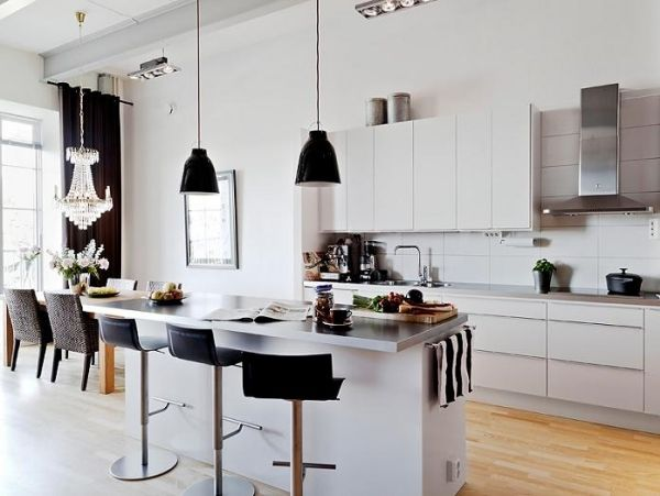 Küchen trends 2013 skandinavisches design weiß kücheninsel