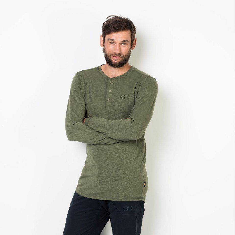 fbde7ec63e8fc2 Jack Wolfskin Langarmshirt »WINTER TRAVEL HENLEY MEN« in 2019