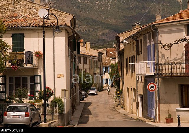 Stock Photo View Of The French Village Of La Motte Chalancon Provence France Provence France Village