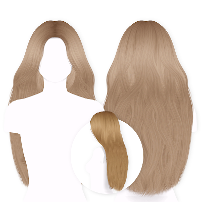 Summer Hair (A Long Parted Pushed Back Hairstyle) в 2020 г | Симс 4, Симс
