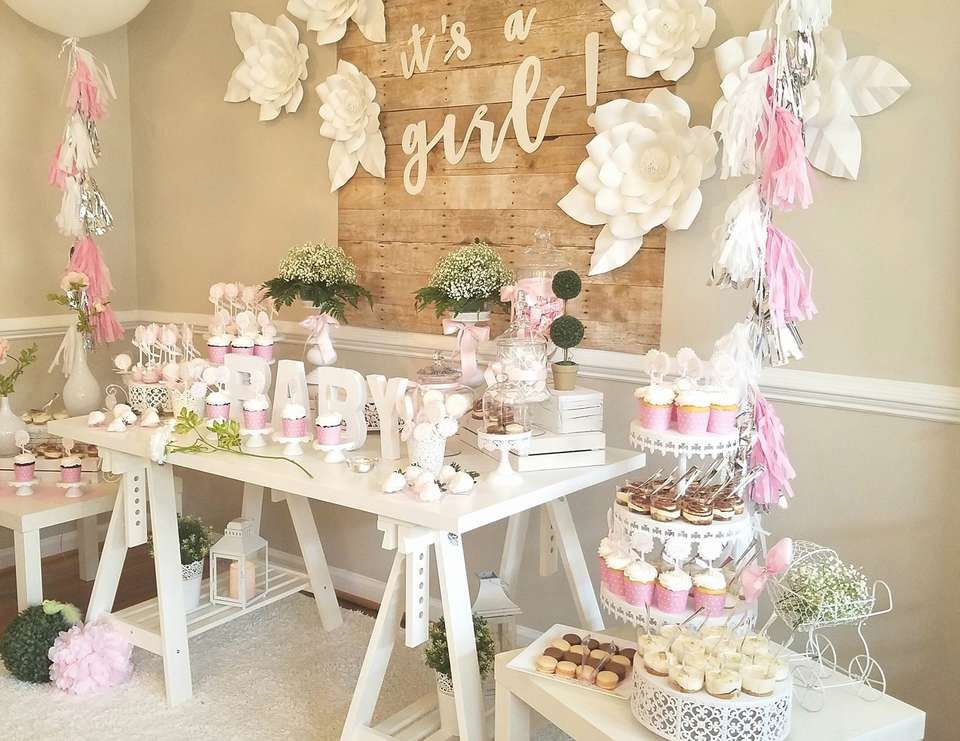 Baby Shower It S A Girl Baby Shower In 2019 Baby Shower Baby
