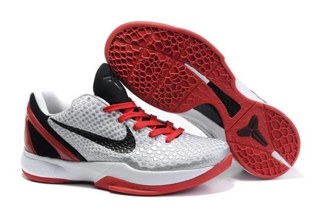 Nike Zoom Kobe 6 Cool Grey Dark Red Black