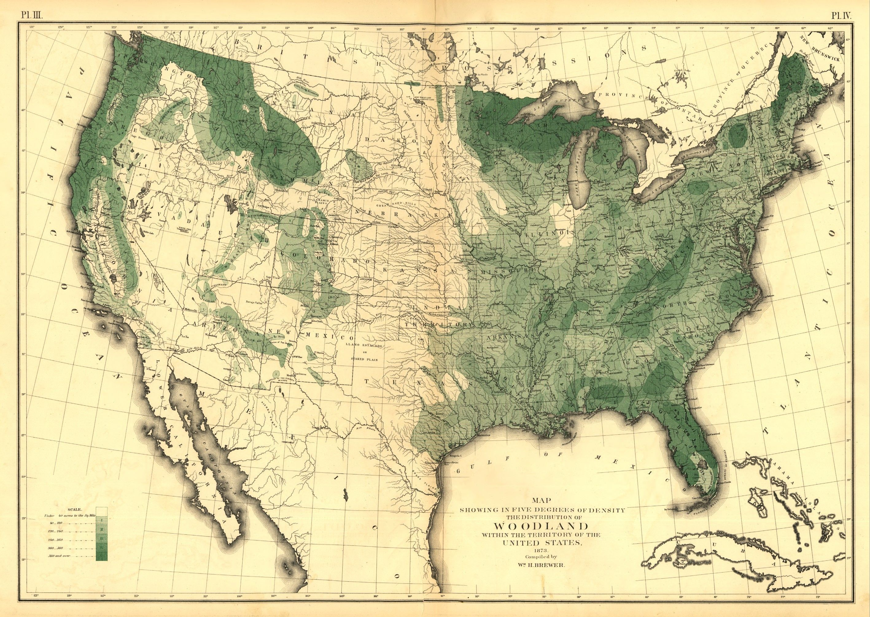 Map Showing In Five Degrees Of Density The Distribution Of - Map of us with federal land shaded